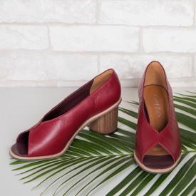 sandalia nicole burgundy 3